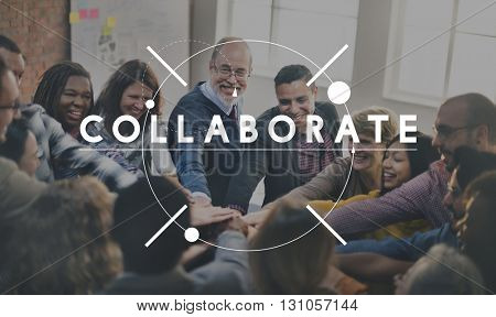 Collaborate Strategy Support Team Together Concept