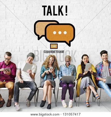 Talking Talk Communication Conversation Concept