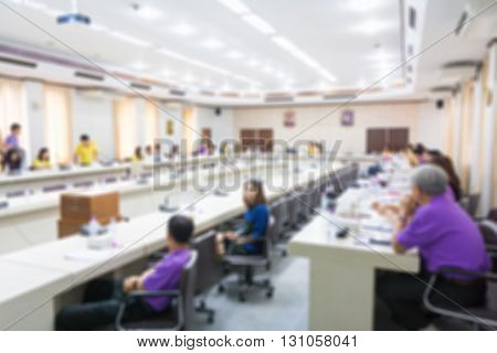 Blurred image of business Conference, Business meeting