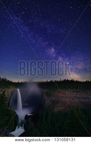 Helmcken Falls And Milky Way,  Wells Gray Provincial Park