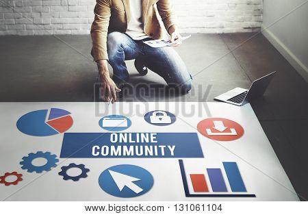 Online Community Connection Internet Concept
