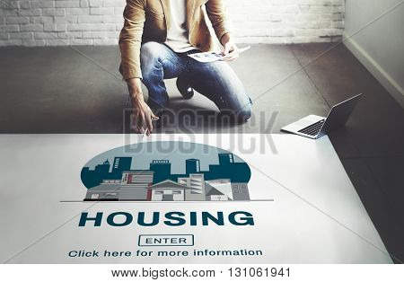 Housing Building Dwelling Estate Home House Concept