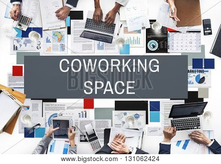 Co-working Space Community Start up Concept