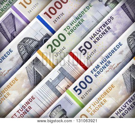 Danish Kroner Rand Background