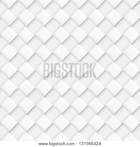 Gray Seamless Pattern with Convex Square Design