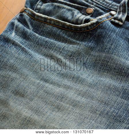 design pocket of blue jeans, clothing industry