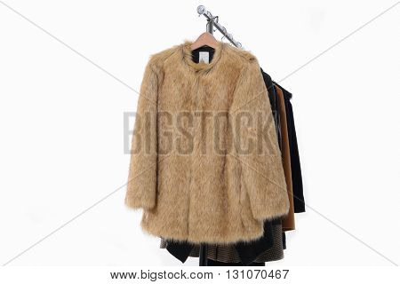 female,clothes ,coat rack display