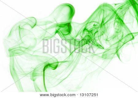 Colorful Green  Smoke