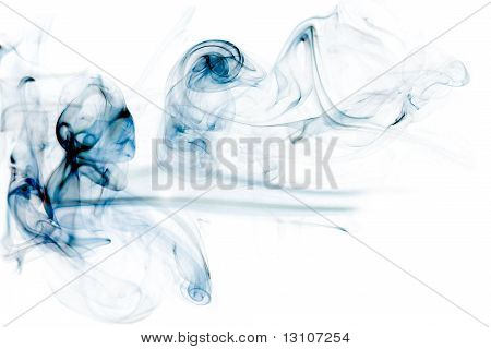 Colorful Blue Smoke
