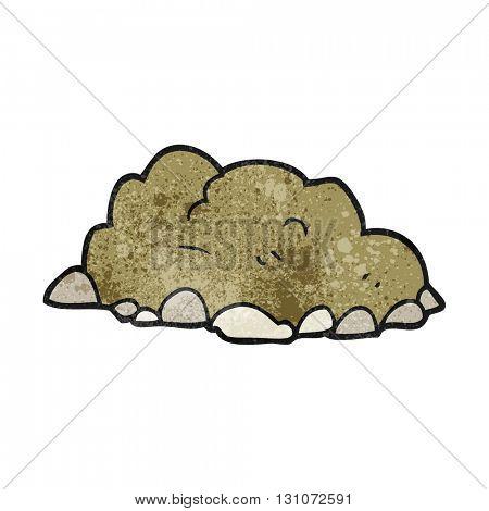 freehand textured cartoon pile of dirt