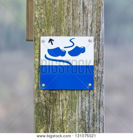 Sign Close Up, Wooden Shoes