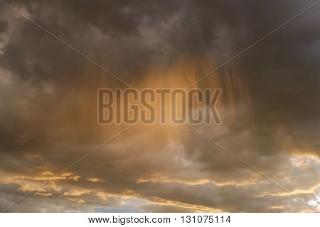 Sky And Glowing Cloud In The Rainny Day, Weather Background