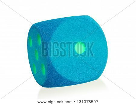 Large Blue Foam Die Isolated - 1
