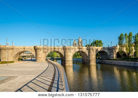 Bridge of Toledo over Manzanares river in Madrid - Spain.