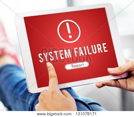 Failure Attacked Hacked Virus Baned Concept