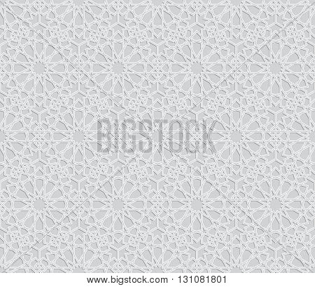 Islamic pattern. Seamless vector islamic background. Geometric islamic texture arabian style