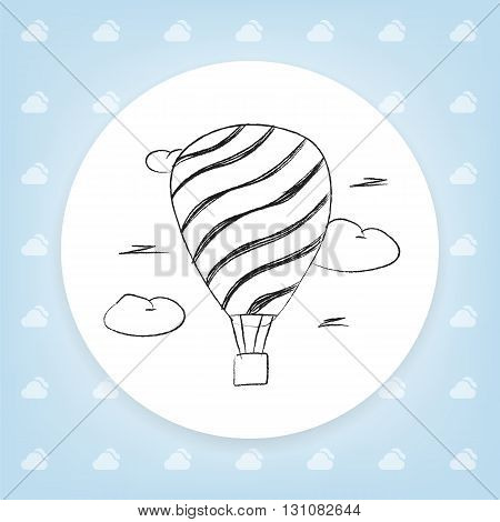 Balloon sketch icon for web, mobile and infographics. Hand drawn vector icon isolated on white background.