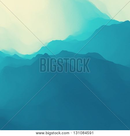 Mountain Landscape. Mountainous Terrain. Mountain Design. Vector Silhouettes Of Mountains Backgrounds.