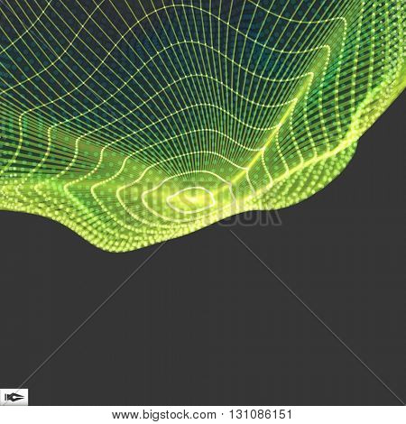 Connection Structure. Wireframe Vector Illustration. Abstract background.