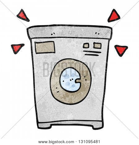freehand textured cartoon washing machine