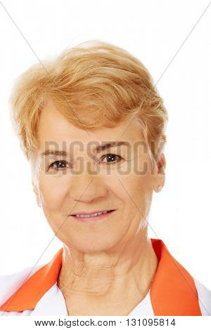 Smile elderly female doctor or nurse
