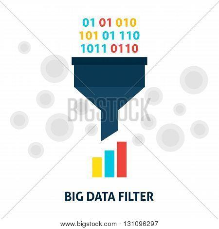 Big Data Filter Flat Concept