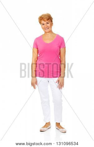 An old smiling charming woman