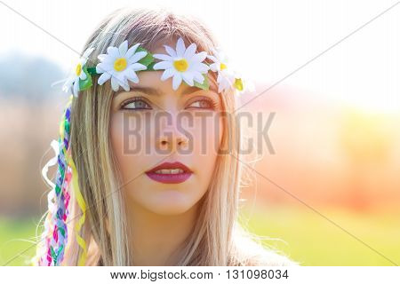 Portrait Of Hippie Girl