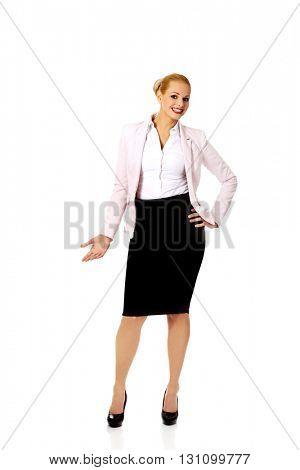 Young elegant beautiful smiling business woman