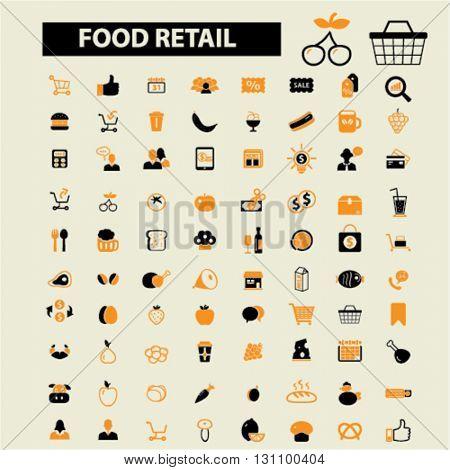 food retail icons