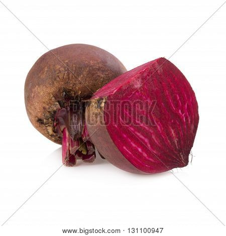 Fresh beetroot vegetable isolated on white