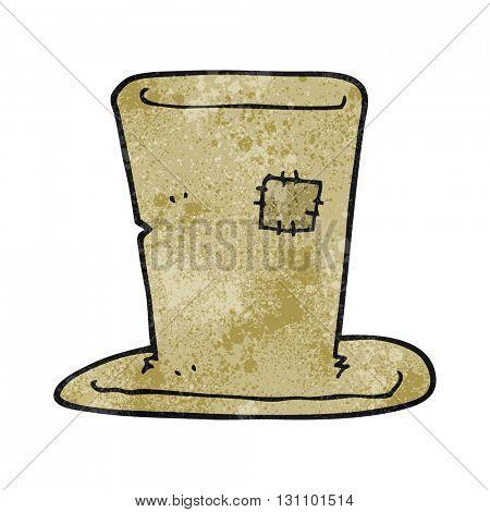 freehand textured cartoon tramp top hat