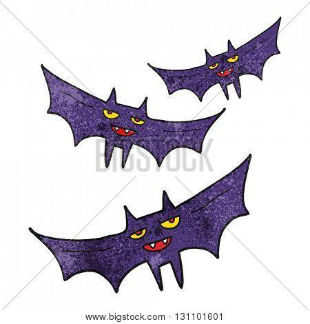 freehand textured cartoon halloween bat