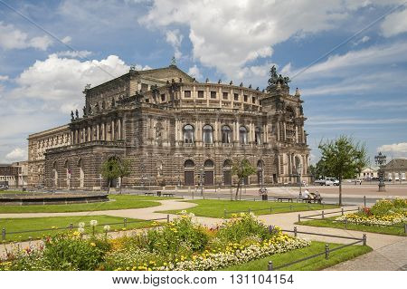 Germany, Dresden - July 11, 2012: The Building Of The Dresden State Opera (semper Opera House).