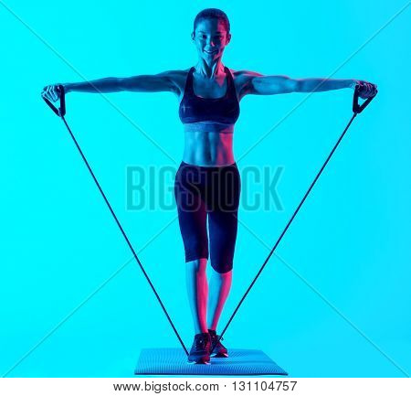 woman fitness exercices isolated