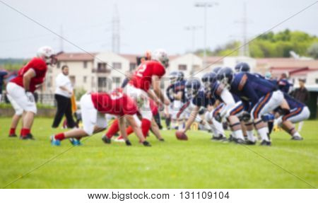 Blurred background of american football game