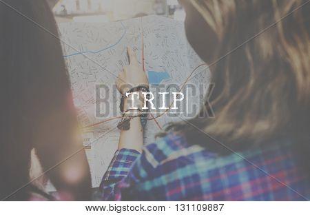 Trip Destination Exploration Holiday Journey Tour Concept