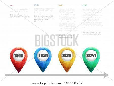 company timeline and milestone history infographic vector template
