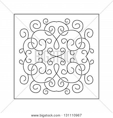 Abstract intricate  pattern with swirl. Decorative element.