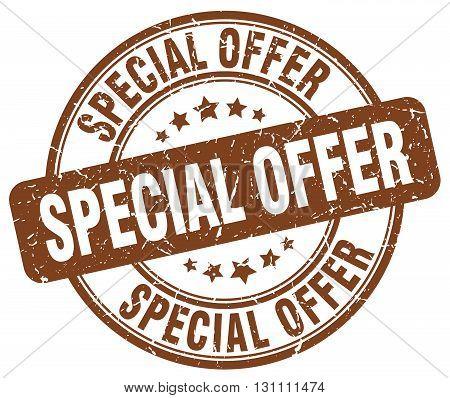 Special Offer Brown Grunge Round Vintage Rubber Stamp.special Offer Stamp.special Offer Round Stamp.