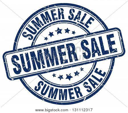Summer Sale Blue Grunge Round Vintage Rubber Stamp.summer Sale Stamp.summer Sale Round Stamp.summer