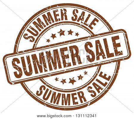 Summer Sale Brown Grunge Round Vintage Rubber Stamp.summer Sale Stamp.summer Sale Round Stamp.summer