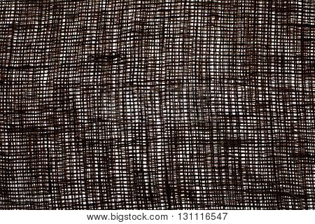 The texture of coarse cloth. The fabric on white background. Sackcloth to the lumen. Eco fabric. Natural fabric. The folds of the fabric. Background.