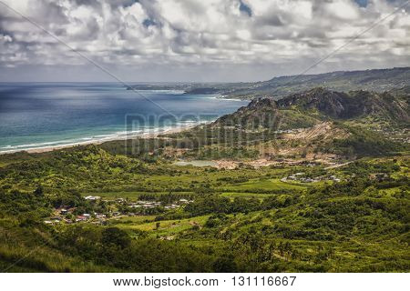 View of the eastern coast of Barbados.