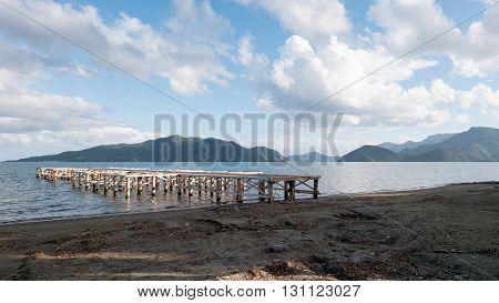 A beautlful scenary at Beach in Marmaris