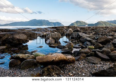 Rocky Beach and sea scenary at Marmaris