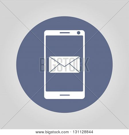 Smartphone email or sms icon. Mobile mail sign simbol. poster