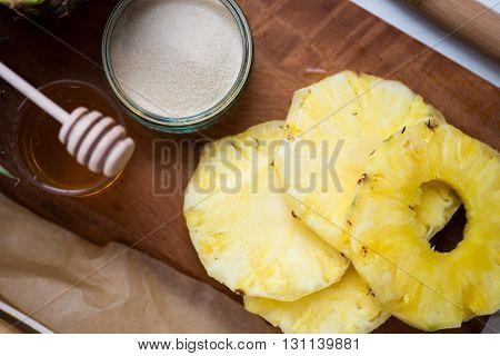 Ingredients For Homemade Honey-glazed Pineapple Tarts