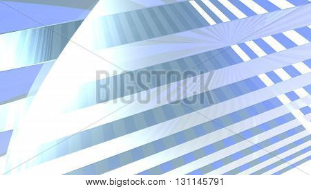 Abstract illustration of a blue background consisting of trapezoids.