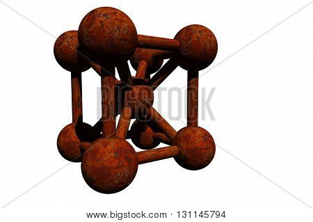 An illustration of a molecule isolated on a white background.